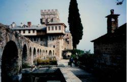 Entrance to Monastery of Stavronikita, Athos